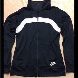 Nike Black and White Sports Zip Jacket